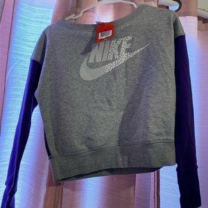 Purple And gray Nike crew neck sweater !